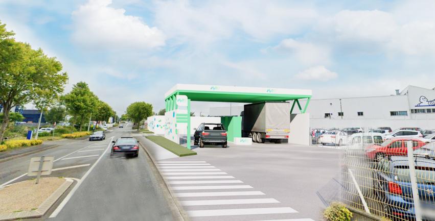 La station hydrogène, sur le site de Michelin à Vannes, en service à l'automne